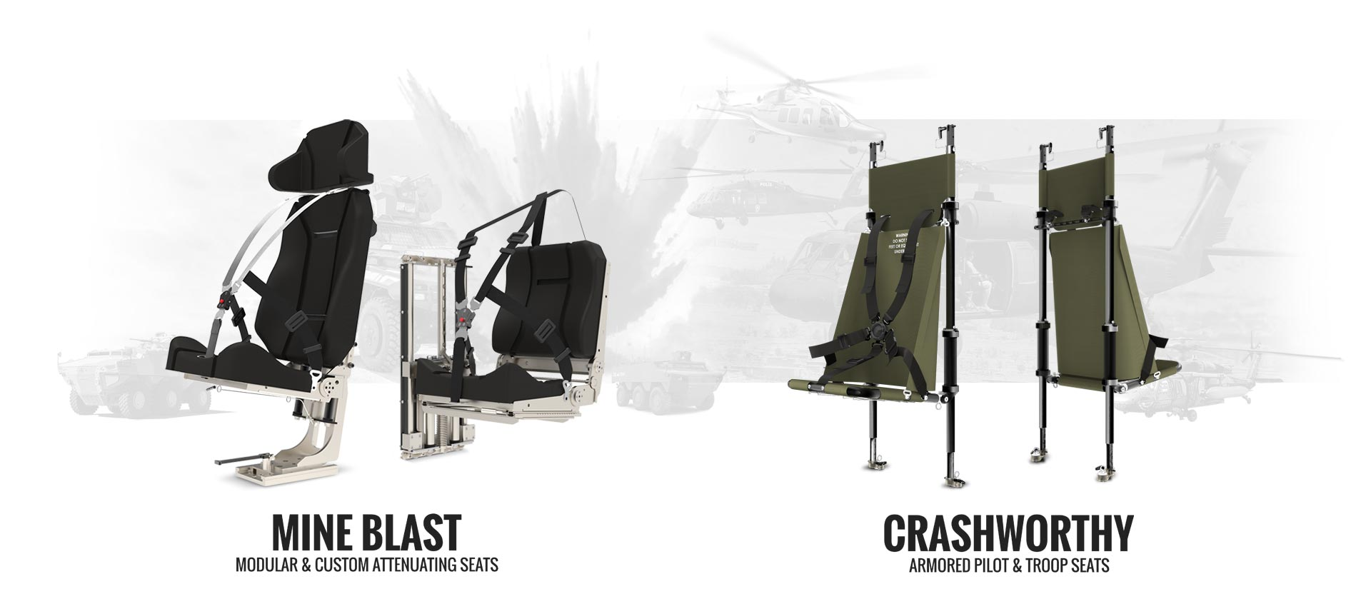 Mine Blast Attenuating & Crashworthy Seating
