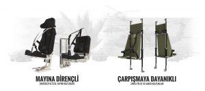 Mayına Dirençli Modüler Koltuklar & Çarpışmaya Dayanıklı Zırhlı Pilot Koltukları